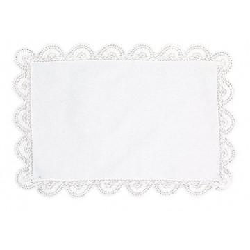 Mantelito sobre mesa con puntilla Blanco Green Gate