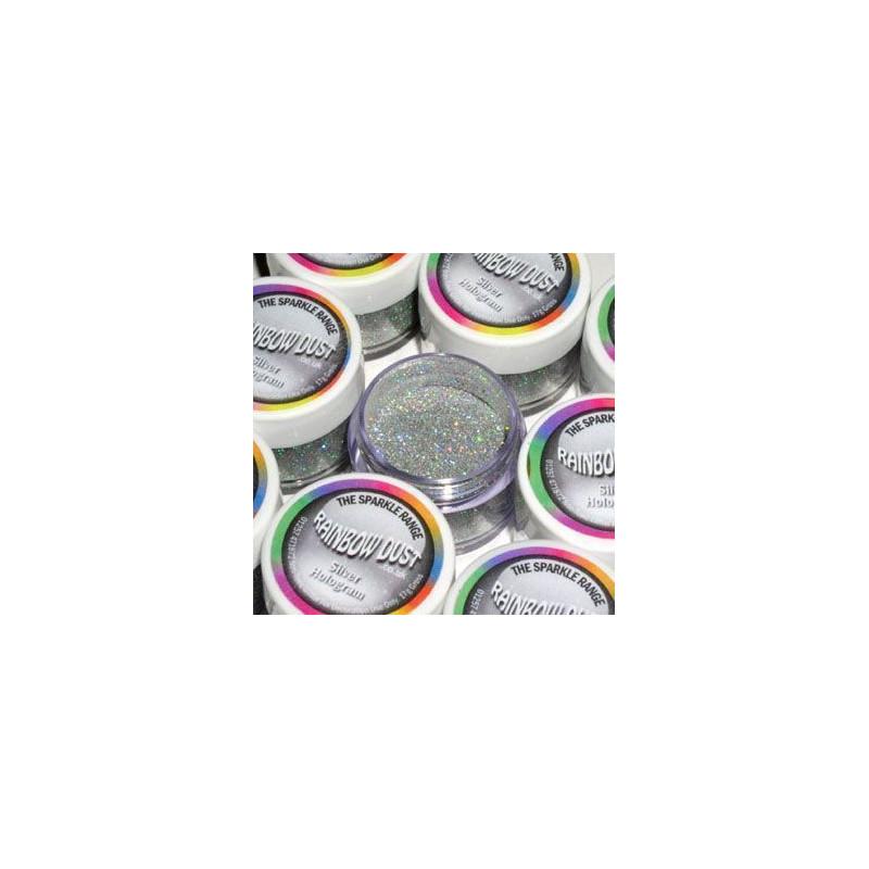 Purpurina fina  Silver Hologram Rainbow Dust