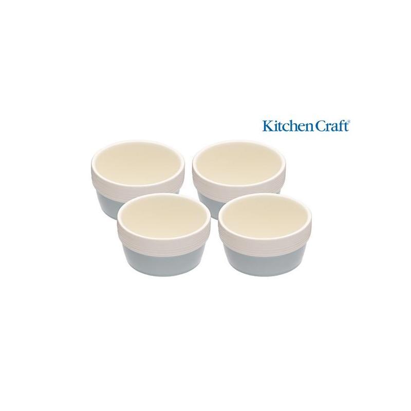 Bol de cerámica pack 4 Classic Colección Kitchen Craft