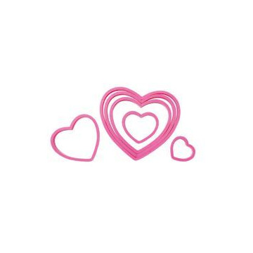 Cortante pack  6 forma corazón Wilton