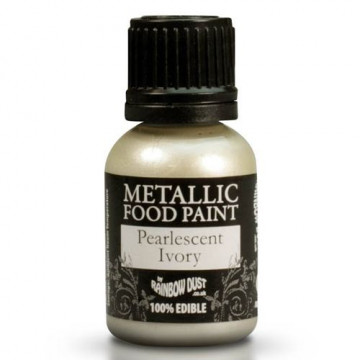 Metallic Food Paint Pearlscent Ivory Rainbow Dust