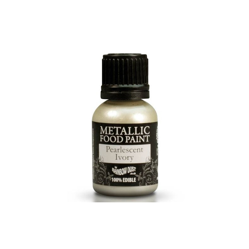 Metallic Food Paint Pearlscent Ivory Rainbow Dust