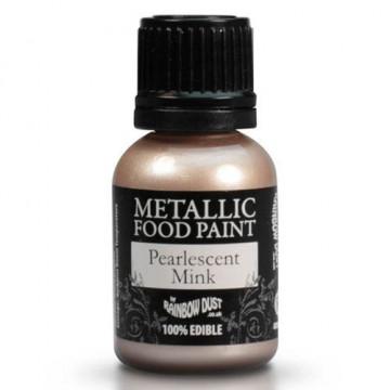 Pintura comestible metalizada Visón Pearlescent Mink Rainbow Dust