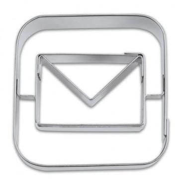 Cortante galleta con símbolo de email.