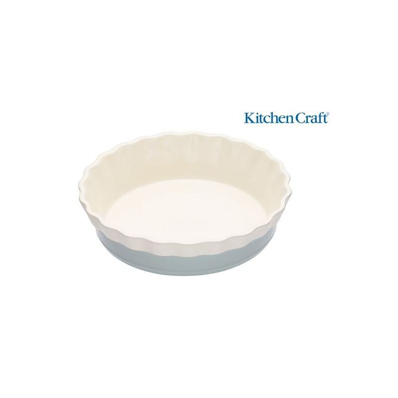 Fuente redonda de cerámica 20 cm Celeste Classic Colección Kitchen Craft