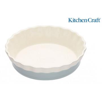 Fuente redonda de cerámica 26 cm Celeste Classic Colección Kitchen Craft
