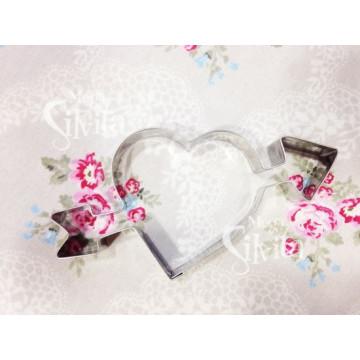 Cortante galleta Corazón con Flecha