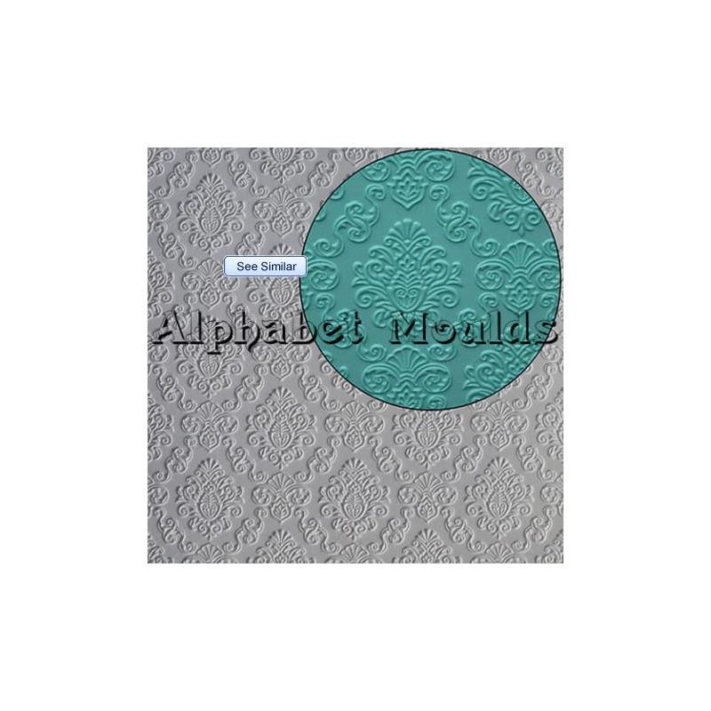 Molde silicona Damask Mat Alphabet Mould