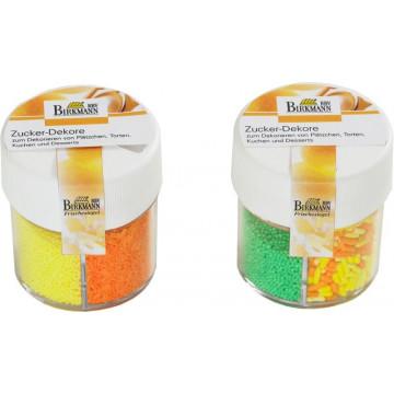 Surtido sprinkles multicolor: mini amarillas, fideitos naranja, fideitos naranja y amarillo y mini verdes [CLONE]