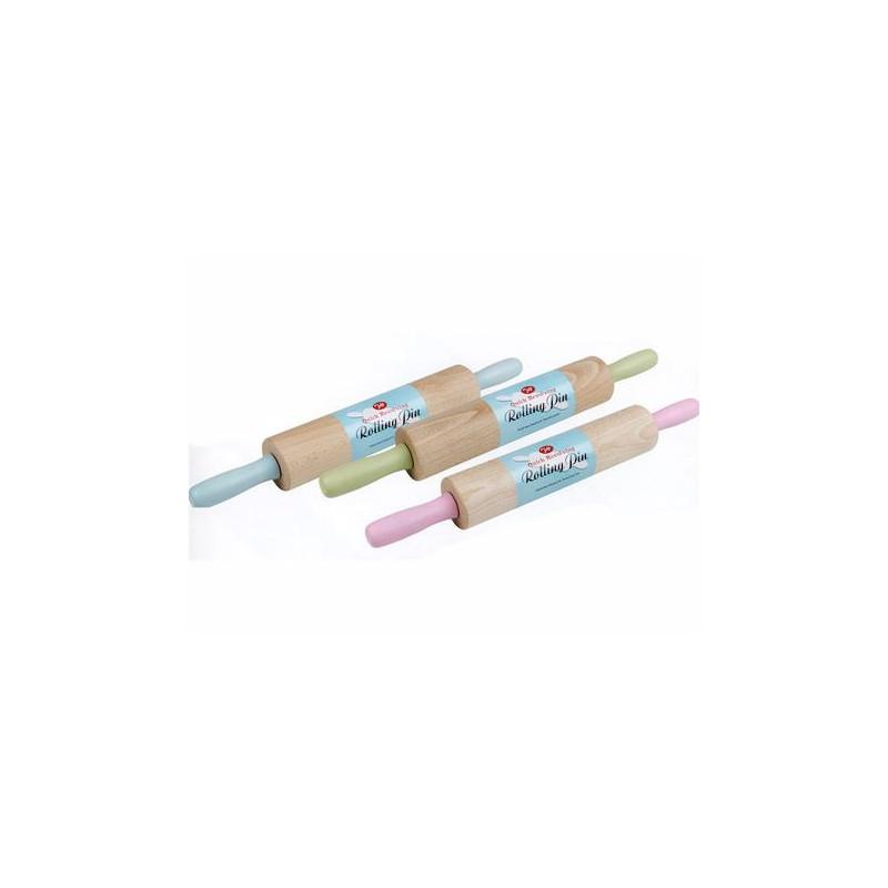 Rodillo madera 40 cm colores pasteles estilo Retro Tala
