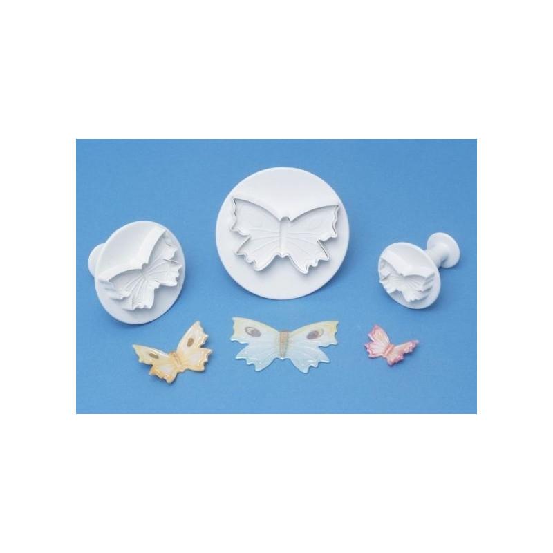 Cortantes pack 3 mariposas con expulsor PME