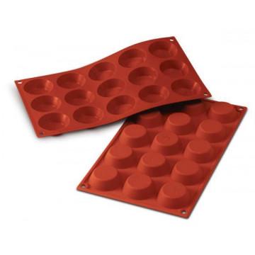Molde 15 cavidades Tartaletas Redondas Silicona Terracota SLK