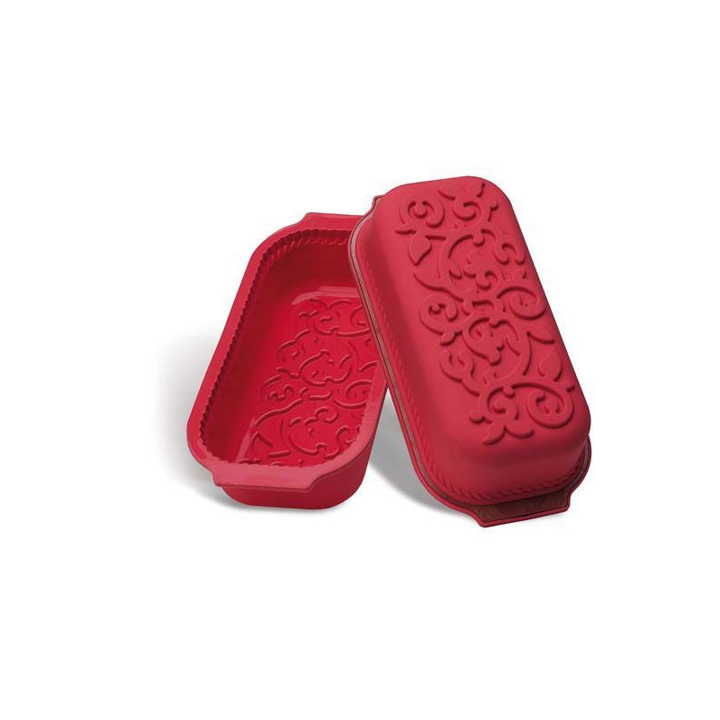 Molde rectangular silicona Raspberry Ornamental Plum Cake SLK