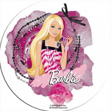 Oblea comestible Barbie fashion
