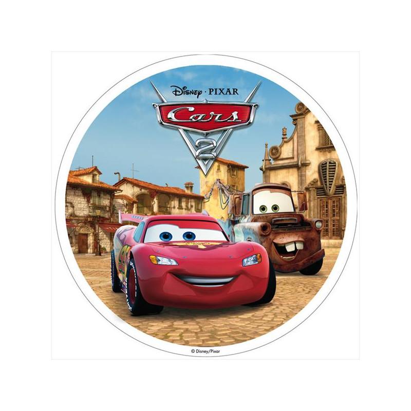 Oblea comestible Cars 2 Plaza