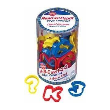 Cortantes cubo de letras y numeros. 50 piezas