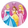 Oblea comestible Princesas:Cenicienta, Bella y Aurora