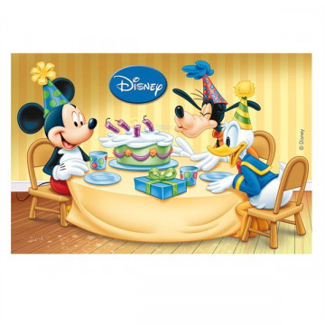 Oblea comestible Rectangular Cumpleaños de Mickey Mouse 1