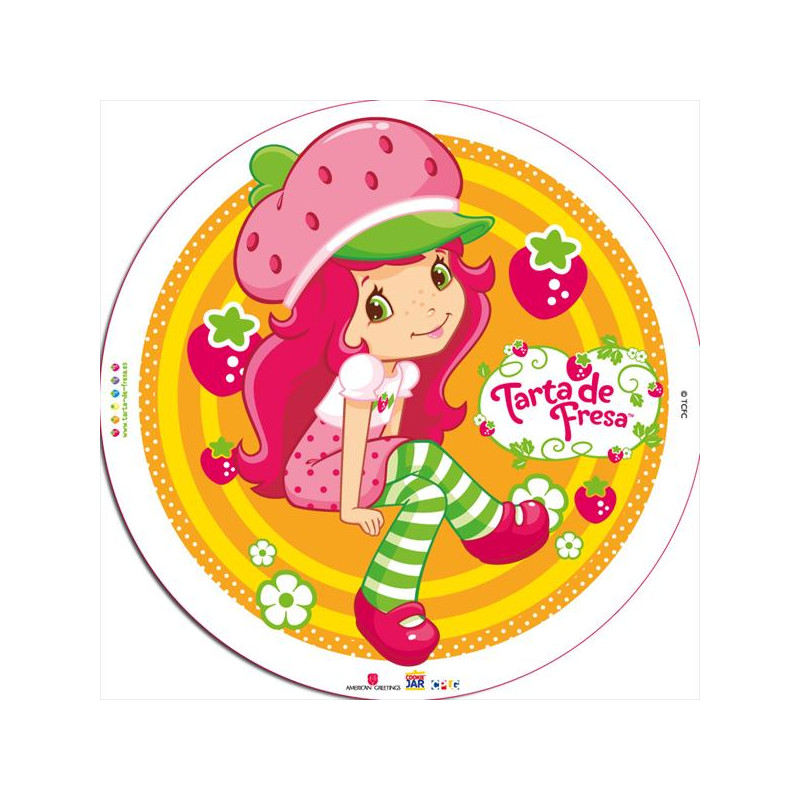 Oblea comestible Tarta de Fresa 1