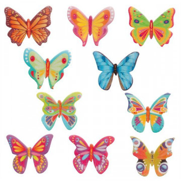 Obleas comestibles Mariposas pack 10