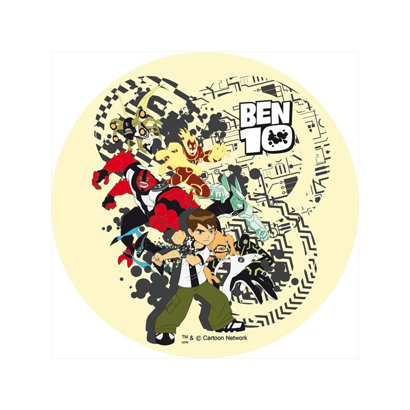 Oblea comestible Ben 10 4