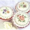 Molde silicona Cupcake Cookie Victorian Garden 1 Katy Sue Designs