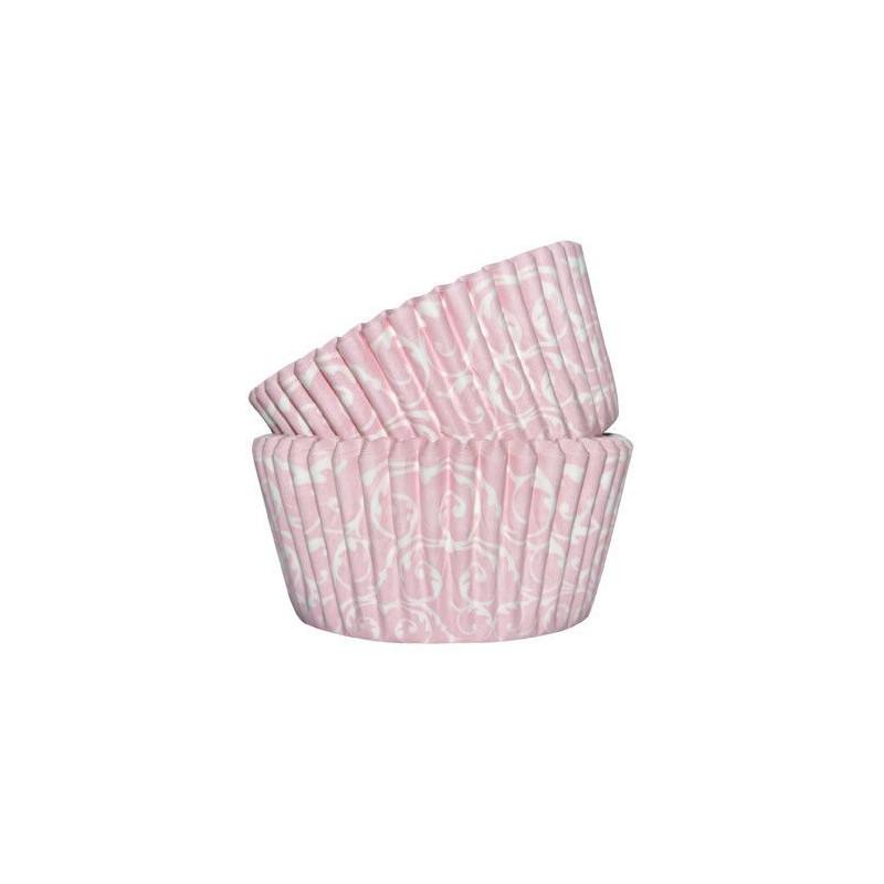 Capsulas cupcakes Barroco Rosa SK