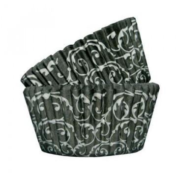 Capsulas cupcakes Barroco Negro SK