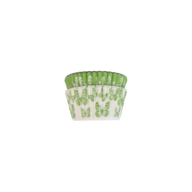 Capsulas cupcakes Mariposas Verde SK