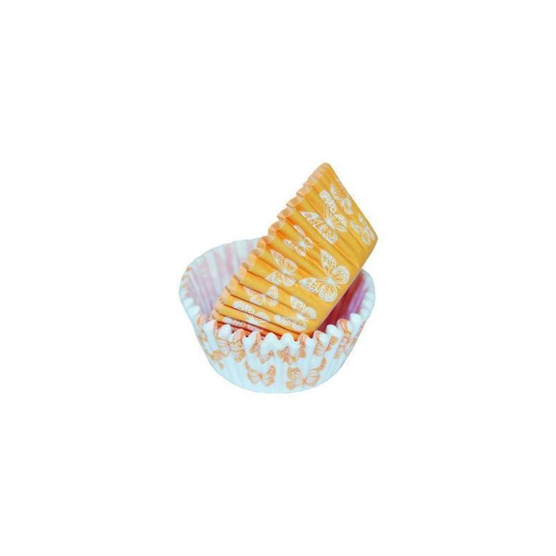Capsulas cupcakes Mariposas Naranja SK