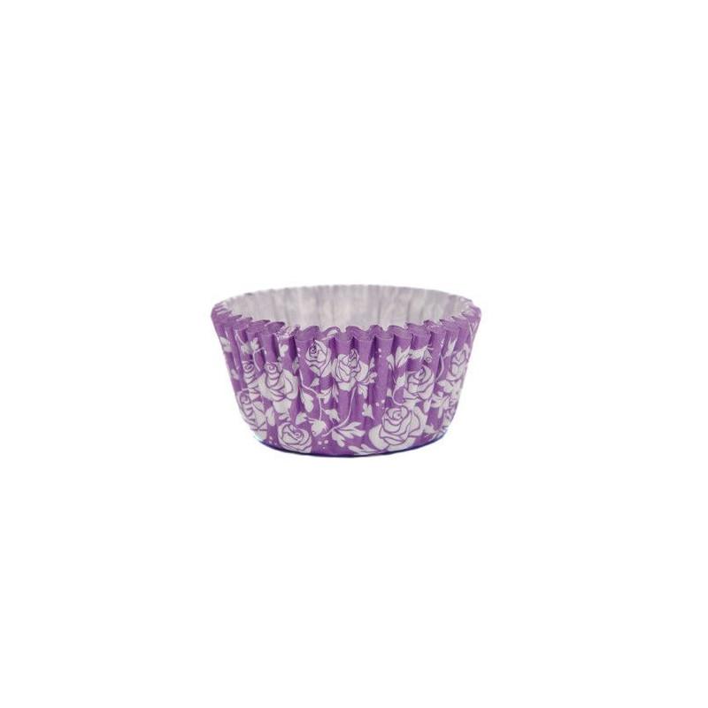 Capsulas cupcakes  Rosas Violeta SK