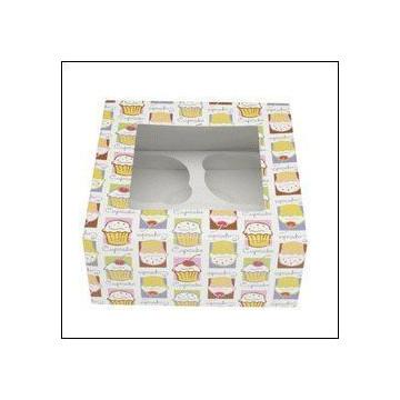 Cajas, pack 3 cajas presentación 4 cupcakes Heaven Wilton
