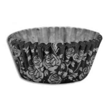 Capsulas cupcakes  Rosas Negro SK
