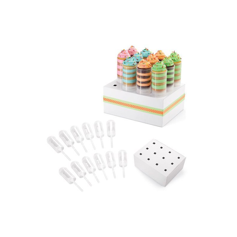 Push up Set 12 soportes + expositor Wilton