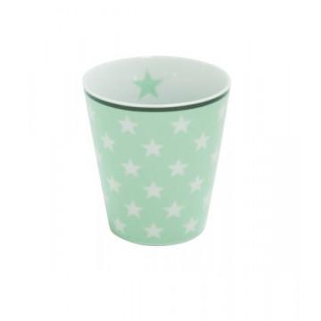 Tazón de leche Verde Menta Estrellas