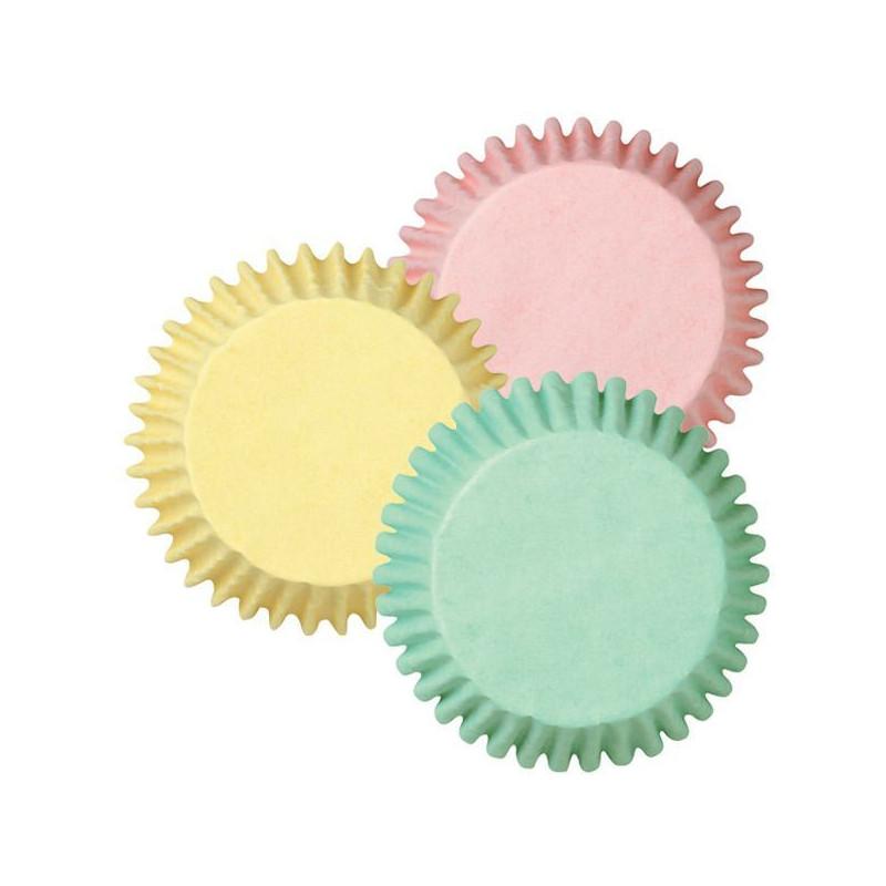 Capsulas cupcakes mini tonos pastel