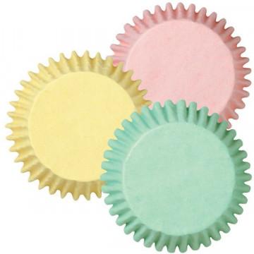 Cápsulas cupcakes  tonos pastel