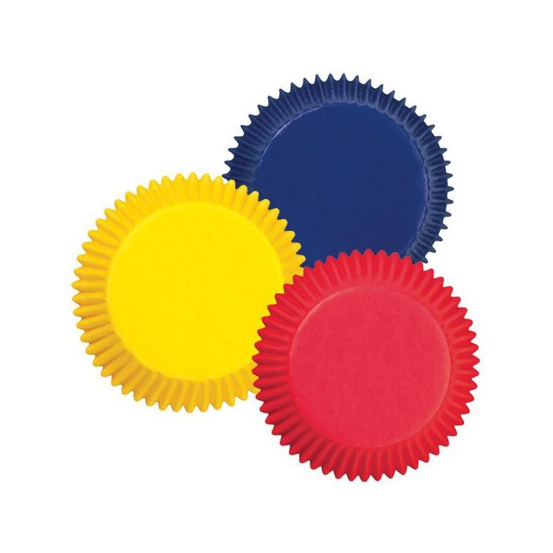 Capsulas cupcakes colores primarios Wilton