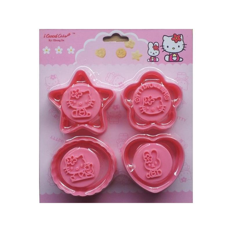 Cortante pack 4 cortantes + marcador Hello Kitty