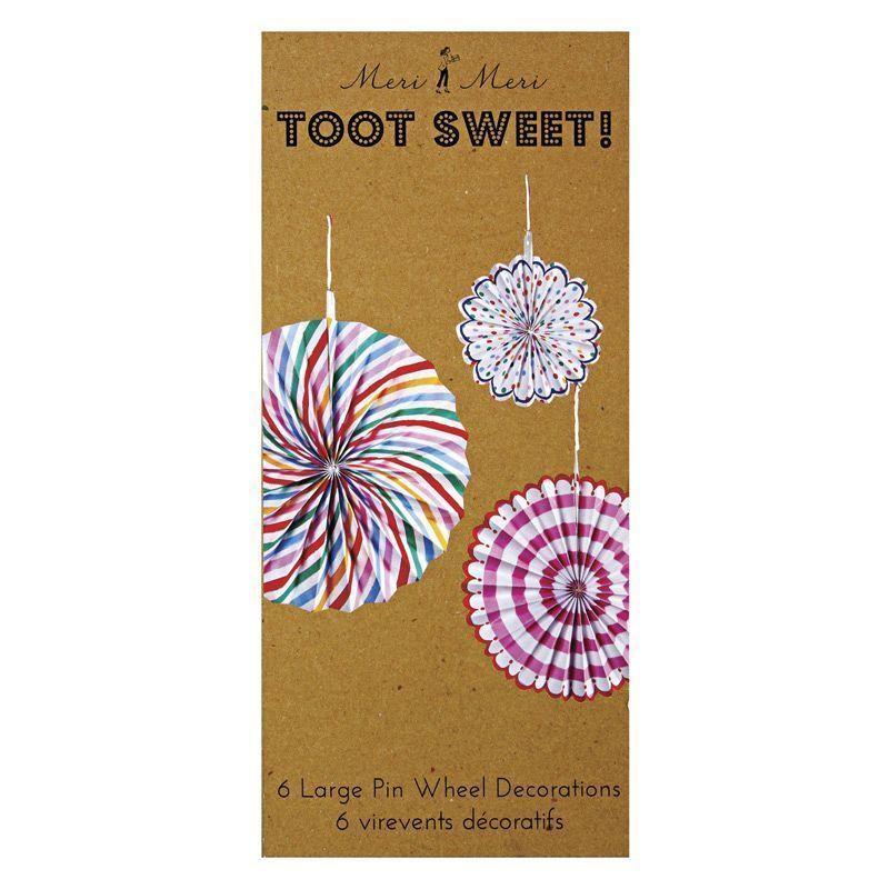 Molinetes decorativos Colección Toot Sweet Meri Meri