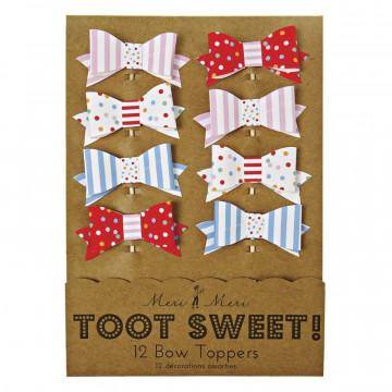 Pack de 12 toppers lacitos colección Toot Sweet Meri Meri