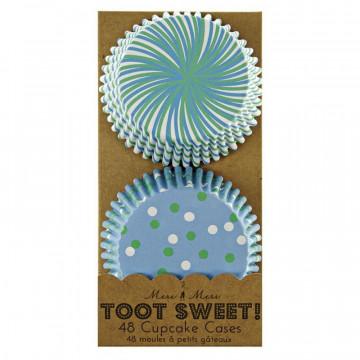 Capsulas cupcakes Azul colección Toot Sweet Meri Meri