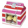 Cajas pack 4 cajas cupcakes para 4 cupcakes colección Pink Striped With Ribbon Meri Meri