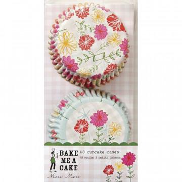 Capsulas cupcakes Rosa colección Flower Pattern Meri Meri