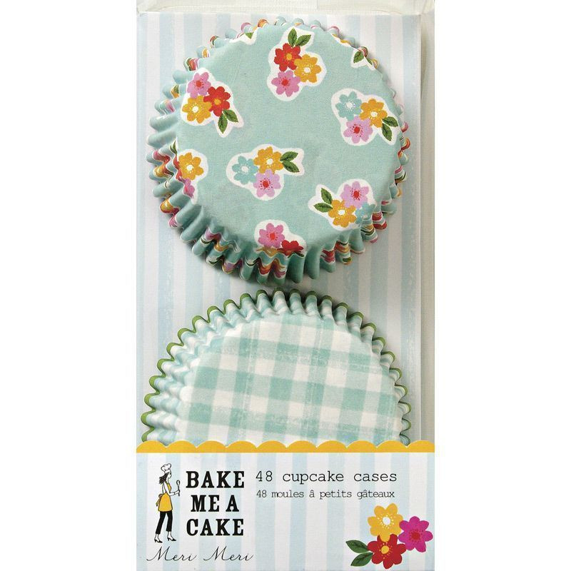 Capsulas cupcakes colección Flower and Gingham Meri Meri