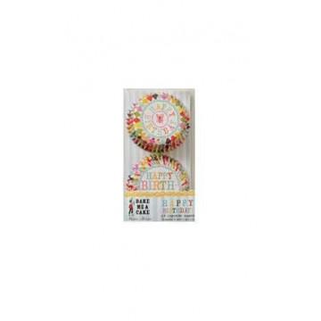 Capsulas cupcakes colección Harlequin Birthday Meri Meri