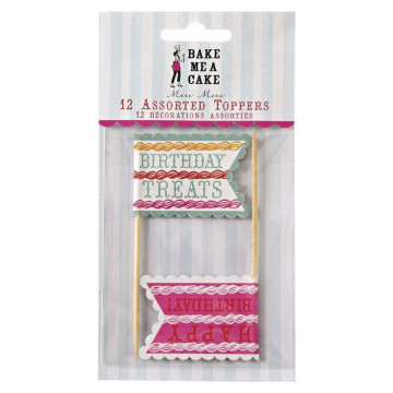 Pack de 12 toppers colección Birthday Treats Meri Meri