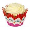 Capsulas muffins colección Read and Pink Flower Meri Meri