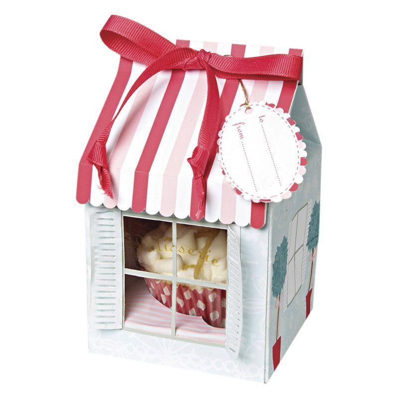 Cajas pack 4 cajas cupcakes individuales colección Patisserie Meri Meri