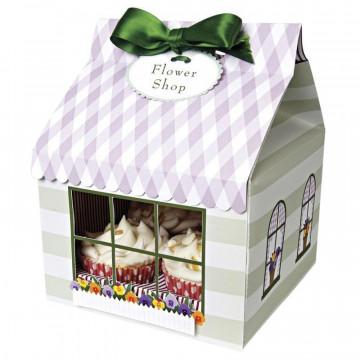 Cajas pack 4 cajas cupcakes para 4 cupcakes colección Flower Shop Meri Meri